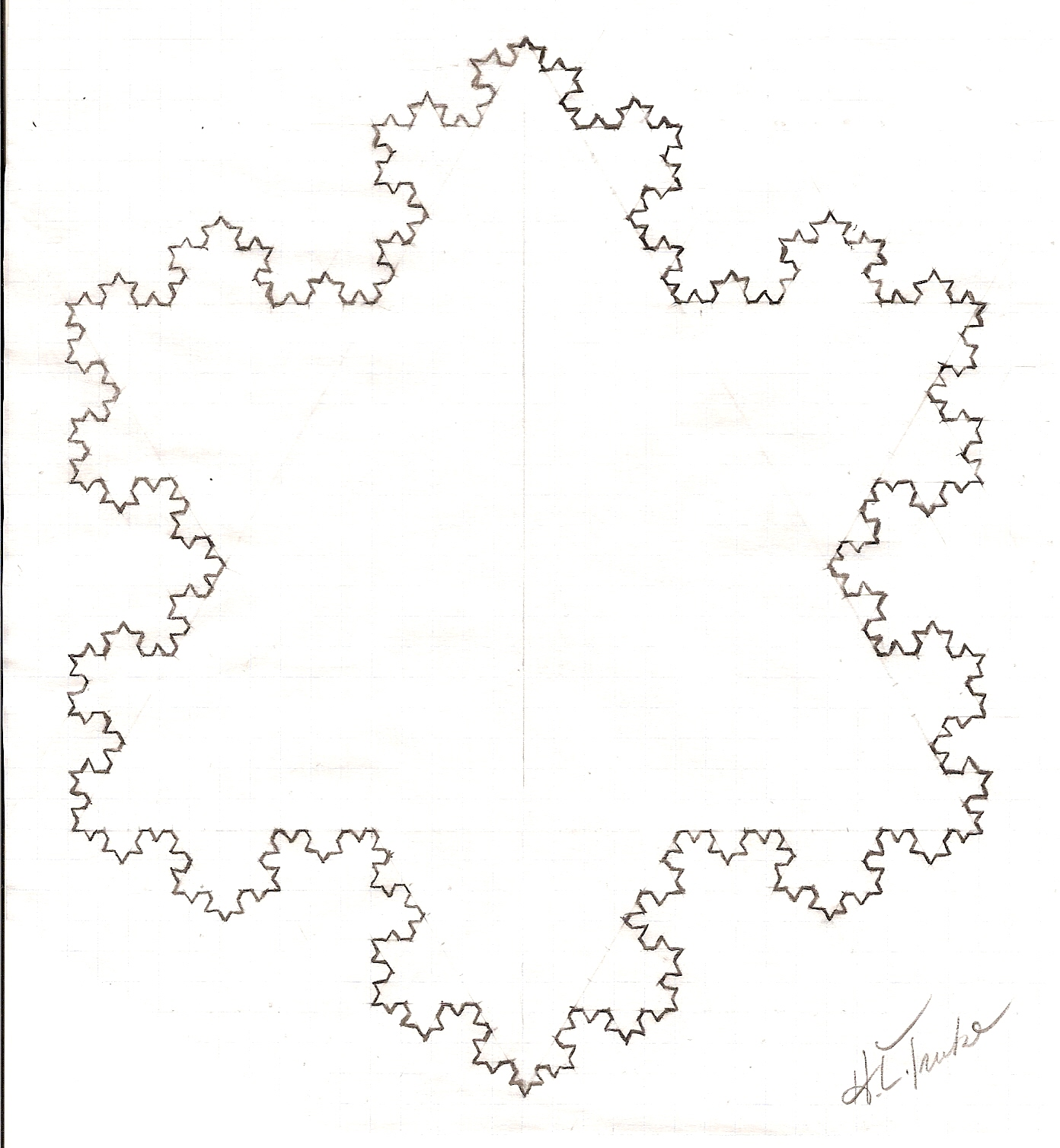 fractals you can draw the koch snowflake or did it really snow in