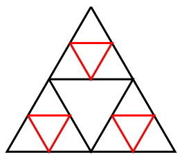 Sierpinski Triangle Second Iteration