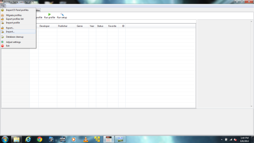 File-->Import