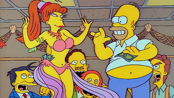 naked drawings of marge and bart having butt sex