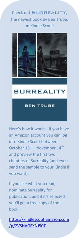 Nominate Surreality on Kindle Scout!