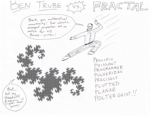 Promotional Poster drawn by Trube for non-existent fractal MMA match.